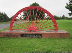Pit Wheel from Shalston Colliery 1865 - 1993 In memory of the mine workers who worked at the colliery